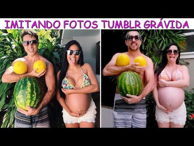 IMITANDO FOTOS TUMBLR GRÁVIDA