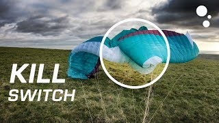 KILLSWITCH: Kill your paraglider when landing in strong wind