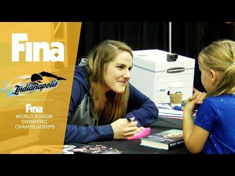 Missy Franklin interview at FINA World Junior Swimming Championships