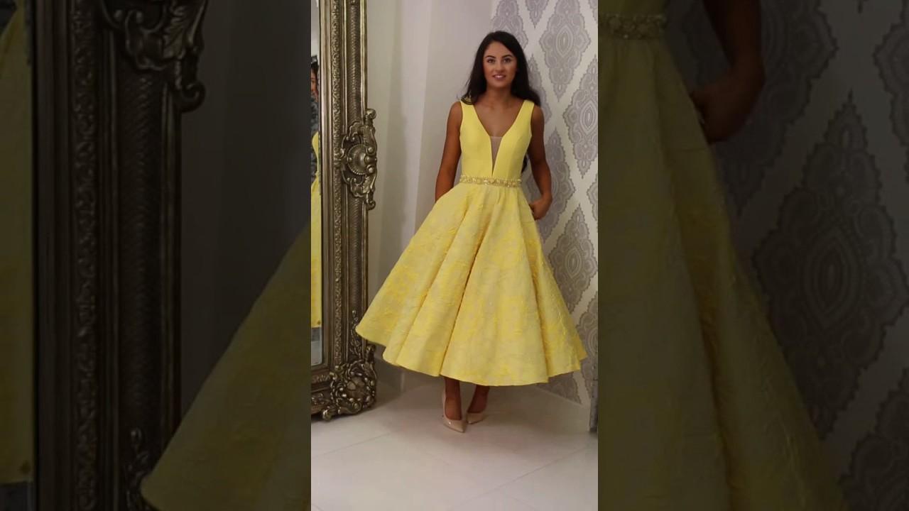 Rosieu0027s Closet Yellow Skater Dress