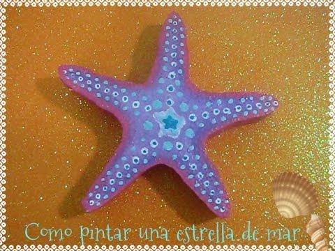 Como pintar una estrella de mar de foam  YouTube