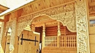 видео Деревянный дом в русском стиле