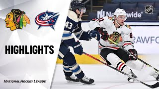 Blackhawks @ Blue Jackets 4/12/21 | NHL Highlights