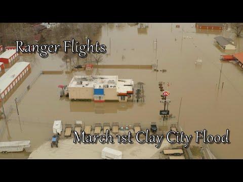 Ranger Flights March 1st 2021 Clay City Kentucky Flood
