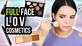 FULL FACE of L.O.V COSMETICS! 🤔
