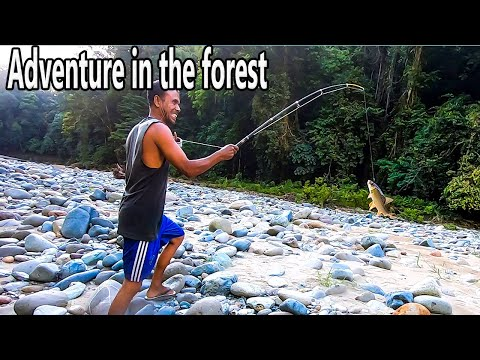 Adventure In The Forest | Fishing In A Heavy River | а Unique Way Of Catching Fish, Part 4