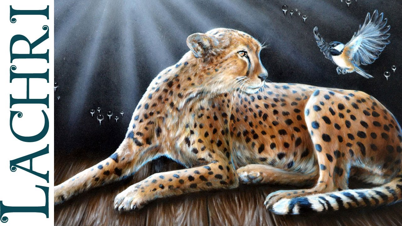 Speed Painting Surreal Cheetah Oil Over Acrylic Time
