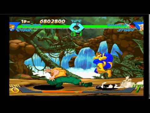 X-Men vs Street Fighter (PSone): Cyclops & Storm PT W/High Difficulty