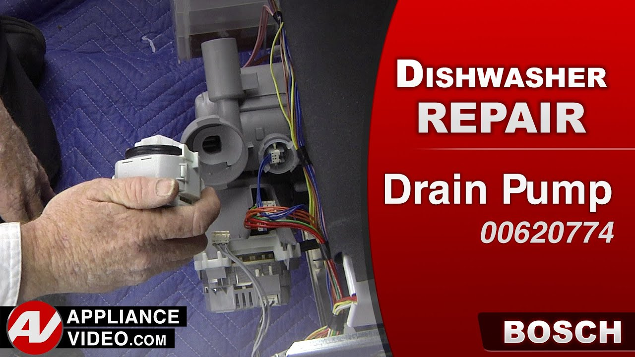 Bosch Dishwasher - Not draining - Drain Pump repair & diagnostic on