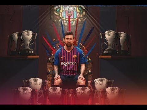 FC Barcelona Champions 2018/2019 Messi Title Celebration