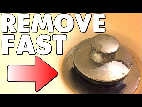 How To Remove A Pop Up Bathtub Drain Plug Stopper No Screws Or