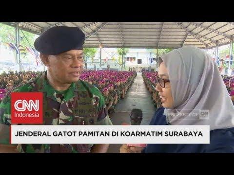 Jenderal TNI Gatot Nurmantyo Pamitan di Koarmatim Surabaya