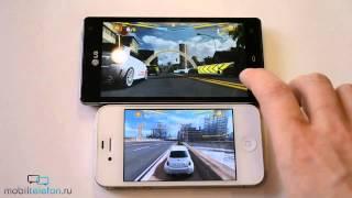 LG Optimus 4X HD vs iPhone 4S: скорость (speed comparison)