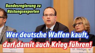 Bundesregierung: Ja, mit deutschen Waffen dürfen andere Staaten Krieg führen