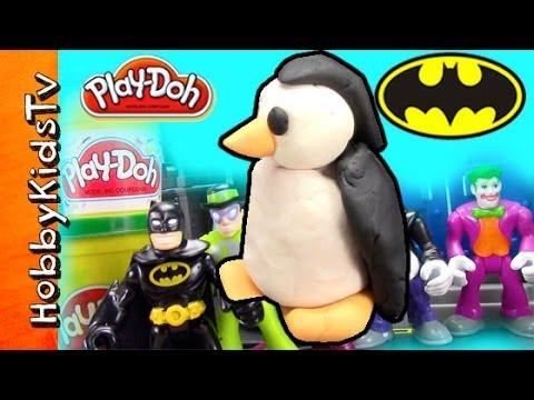 PLAY-DOH Batman Hero vs. Joker Villain PENGUIN RIDDLER MR.FREEZE DC Comic Villains Hero HobbyKidsTV