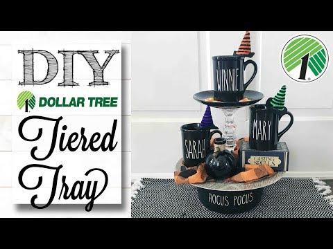 DIY Dollar Tree Tiered Tray |  HOCUS POCUS!