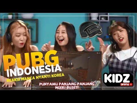 PUBG INDONESIA - K POP IDOL NGAKAK DENGER MANCA NYANYI LAGU KOREA (REACTION PARODY )