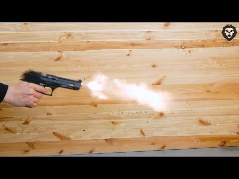 Охолощенный пистолет Retay Eagle X (Desert Eagle, Black) видео обзор