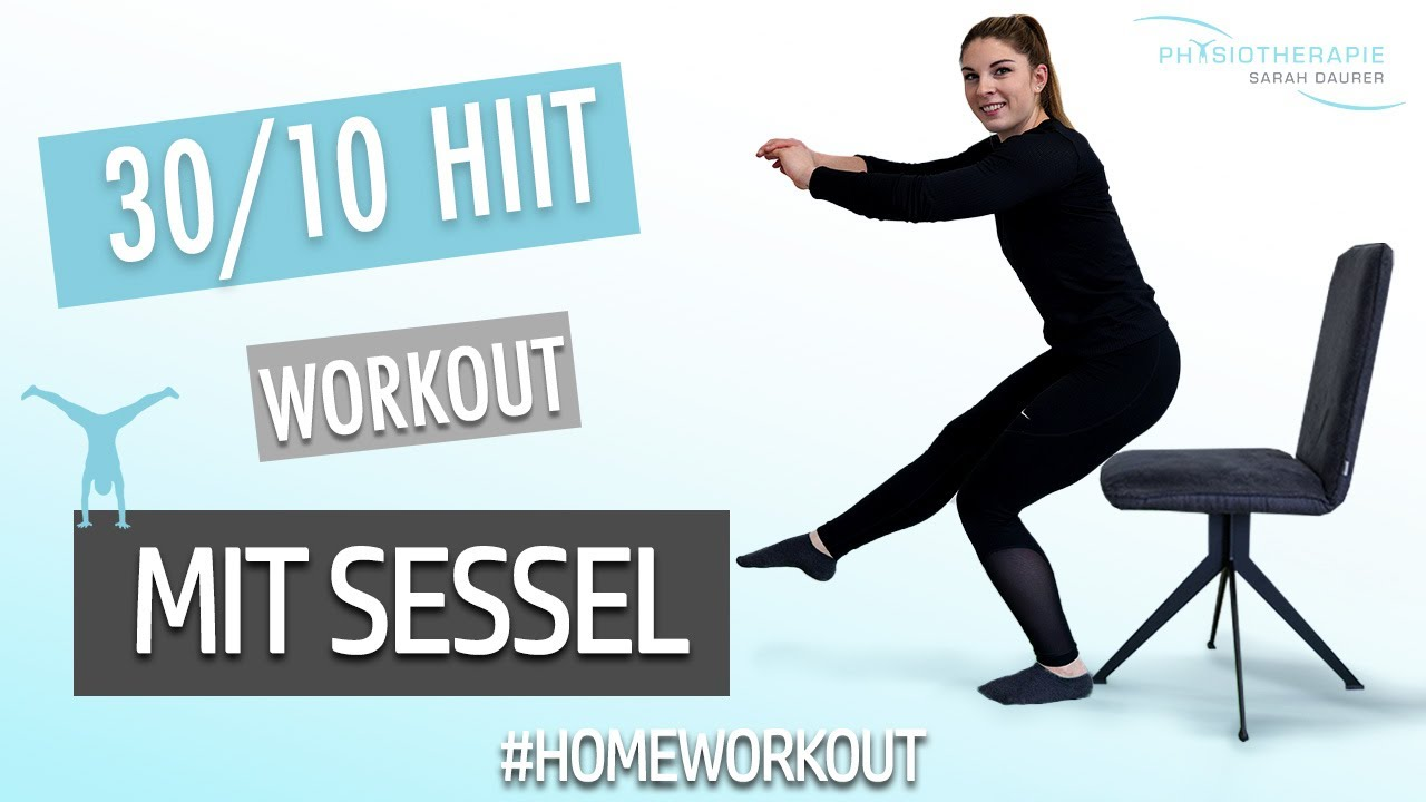 15 Minuten Homeworkout - mit Sessel - Physiotherapie Sarah Daurer