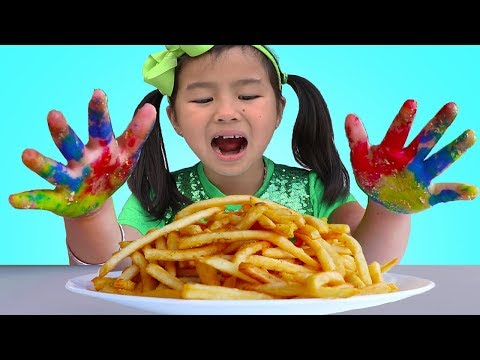 Johny Johny Yes Papa  Jannie & Wendy Pretend Play Wash Your Hands Nursery Rhymes Song
