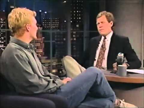 Jim Courier on David Letterman, 1991