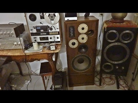The vintage stereo collection of a local repair guy
