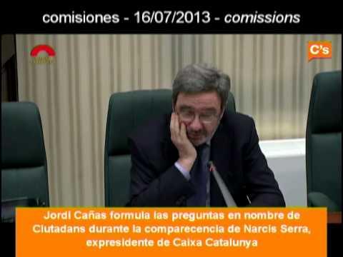 C's: Narcis Serra comparece ante la comisión de Investigación de Cajas. Jordi Cañas 16/07/2013