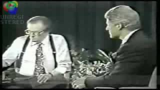 bill clinton and larry king off air