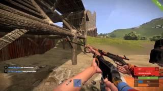rust raiding a base with rocket launchers vanilla