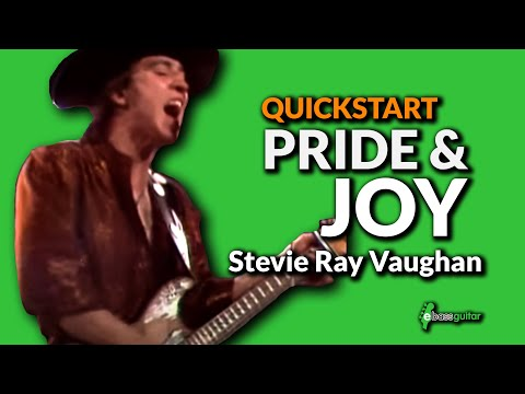 Walking Blues Bass guitar Lesson  Quick Start   Pride & Joy Stevie Ray Vaughan