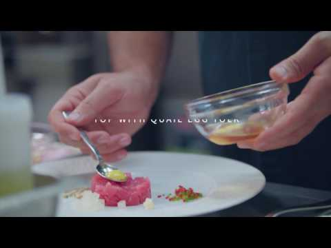 Chef Michael Mina Shows Us How To Construct His Famous Ahi Tuna Tartare