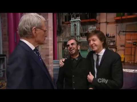 Paul McCartney And Ringo Starr Return To The Ed Sullivan Theater (after 50 Years)