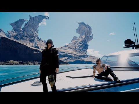Final Fantasy XV Royal Edition Sea World Exploration With Royal Vessel Ship