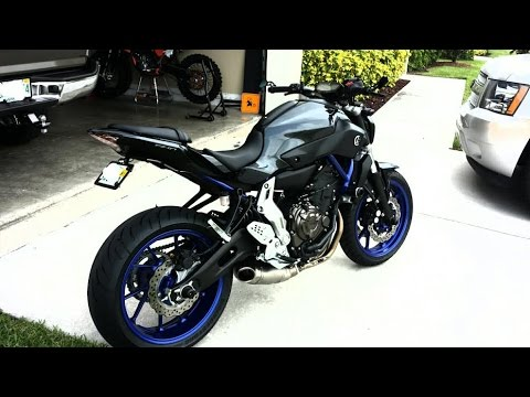fz 07 mt 07 akrapovic exhaust ride vid of homemade 360. Black Bedroom Furniture Sets. Home Design Ideas
