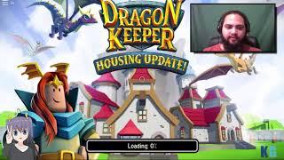 Training my dragon-playing Roblox Dragon Keeper!