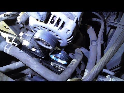 Замена ролика приводного ремня Chery E5