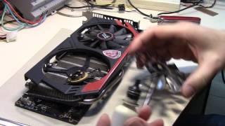 MSI R9 280X Ventilador frenado, reparacion