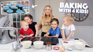 Baking with 4 Kids! (Summer Cupcakes)