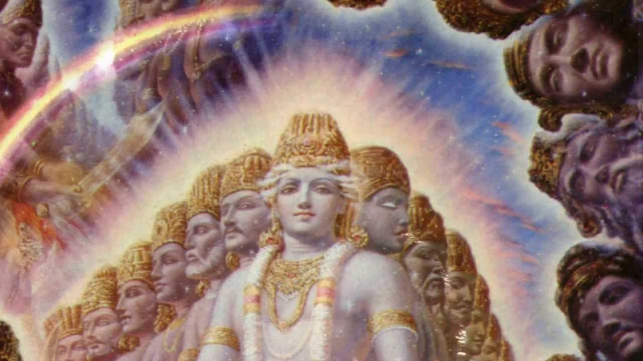 Virat roop of Krishna,Mahabharat (विराट रूप) The Universal ...