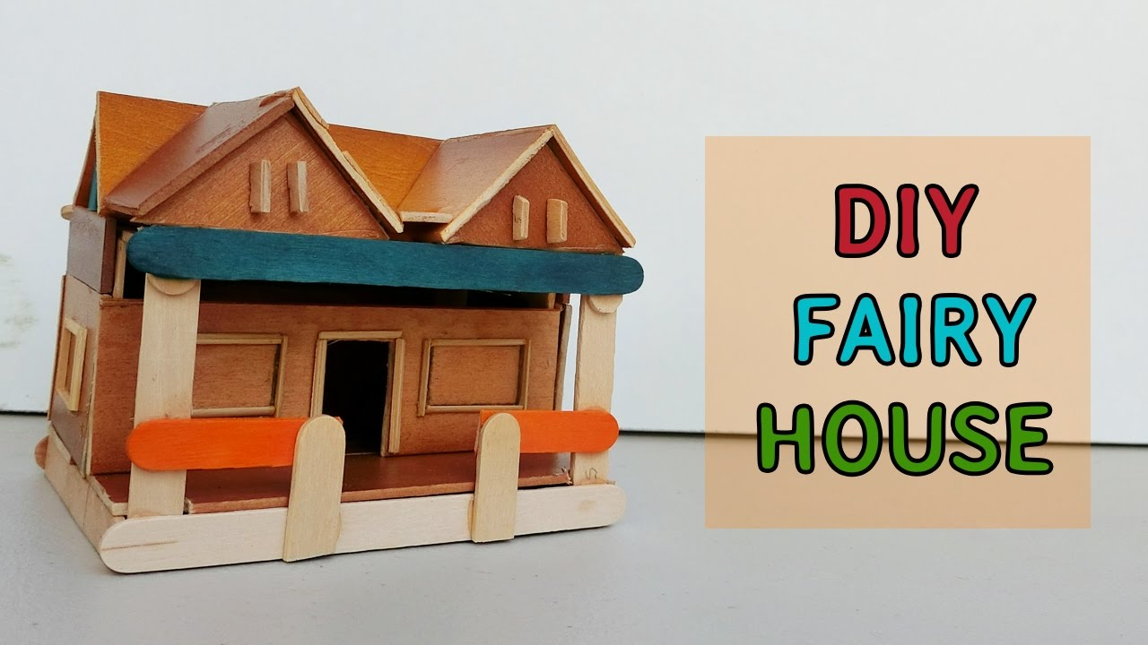DIY Wooden Fairy House: Crafts ideas - YouTube
