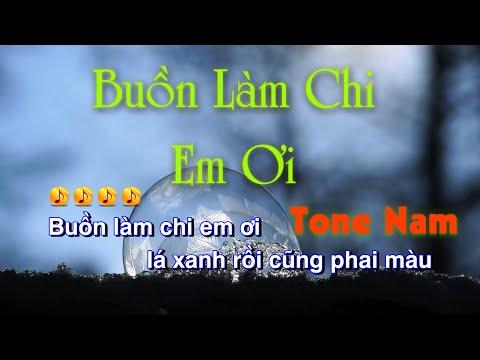 KARAOKE| Buồn Làm Chi Em Ơi - Acoustic Tone Nam | Beat Chuẩn By Nhạc Việt Karaoke