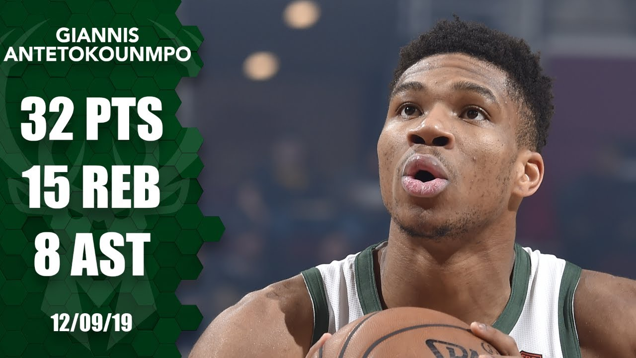 Giannis Antetokounmpo posts 32-point, 15-rebound double-double vs. Magic | 2019-20 NBA Highlights