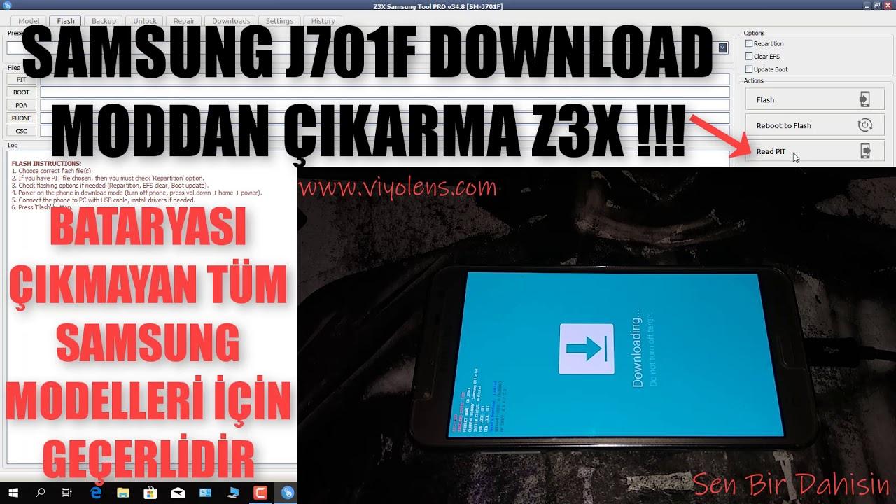 SAMSUNG J701F (j7 PRO) DOWNLOAD MODDA KALDI [ÇÖZÜM Z3X] READ PİT