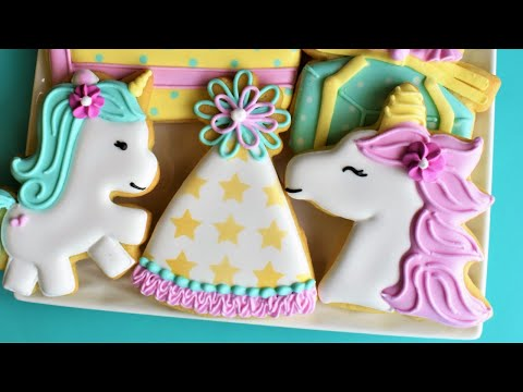 Unicorn Party Cookie Tutorial - SEVEN Designs!
