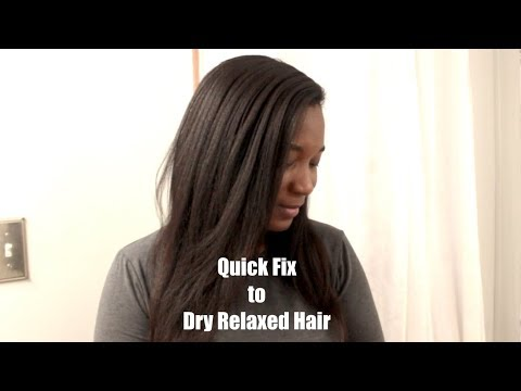 Hair Hack: How To Moisturize Dry Brittle Relaxed Hair QUICK!! Relaxed Hair
