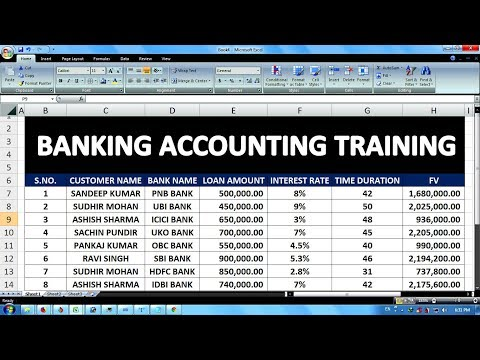 Exercise 05 Excel Practice Book How To Make FD Banking - ms excel for accounting