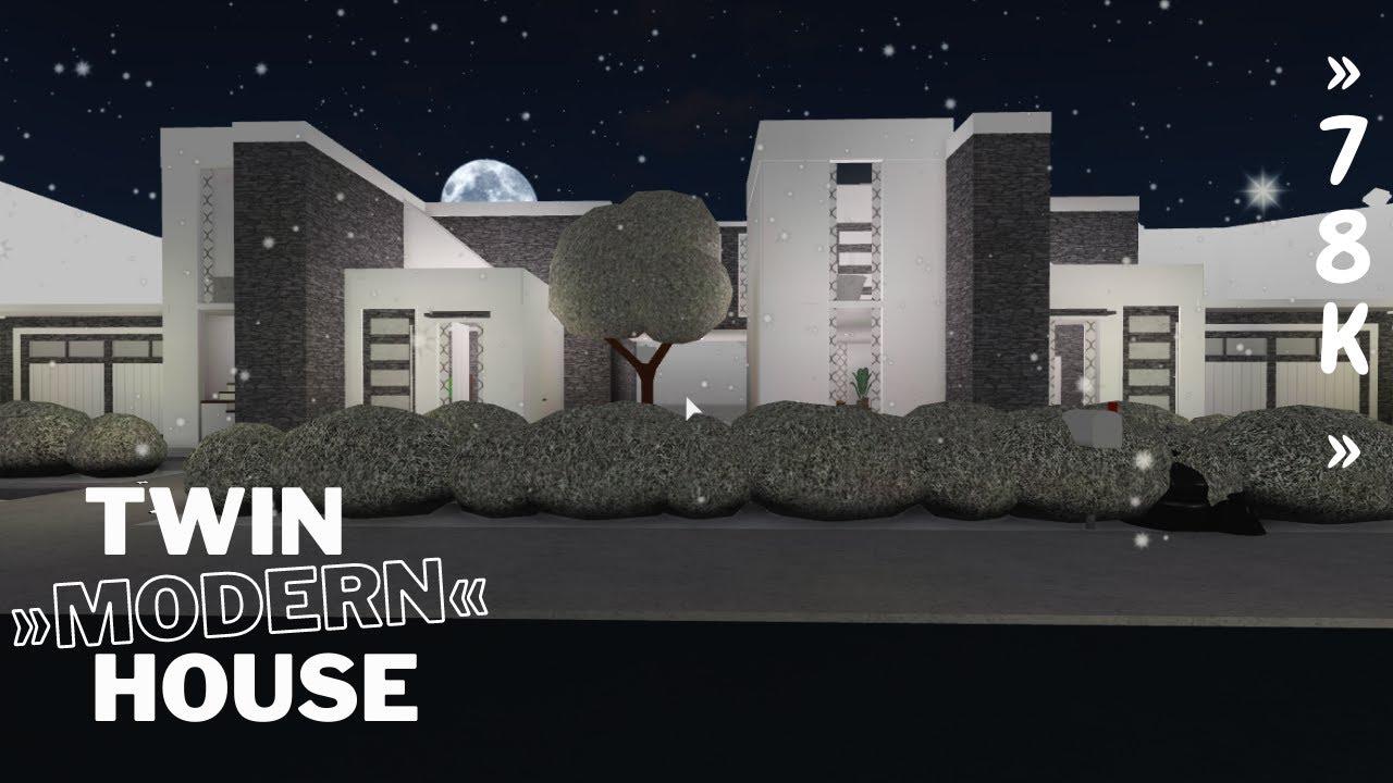 Download Bloxburg: Twin Modern House  (exterior 36k)