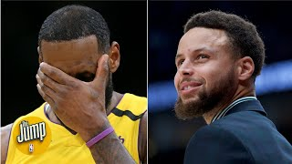 Did Steph Curry throw shade at LeBron James by leaving him off his all-time starting 5? | The Jump