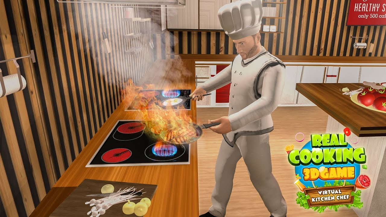 Kitchen Game Remodel Okc Real Cooking 3d Virtual Chef Android Gameplay Trailer