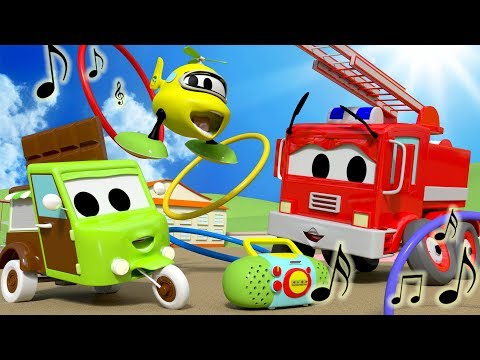 Musical Hula Hoops with the Baby Cars in Car City ! - Cartoon for kids